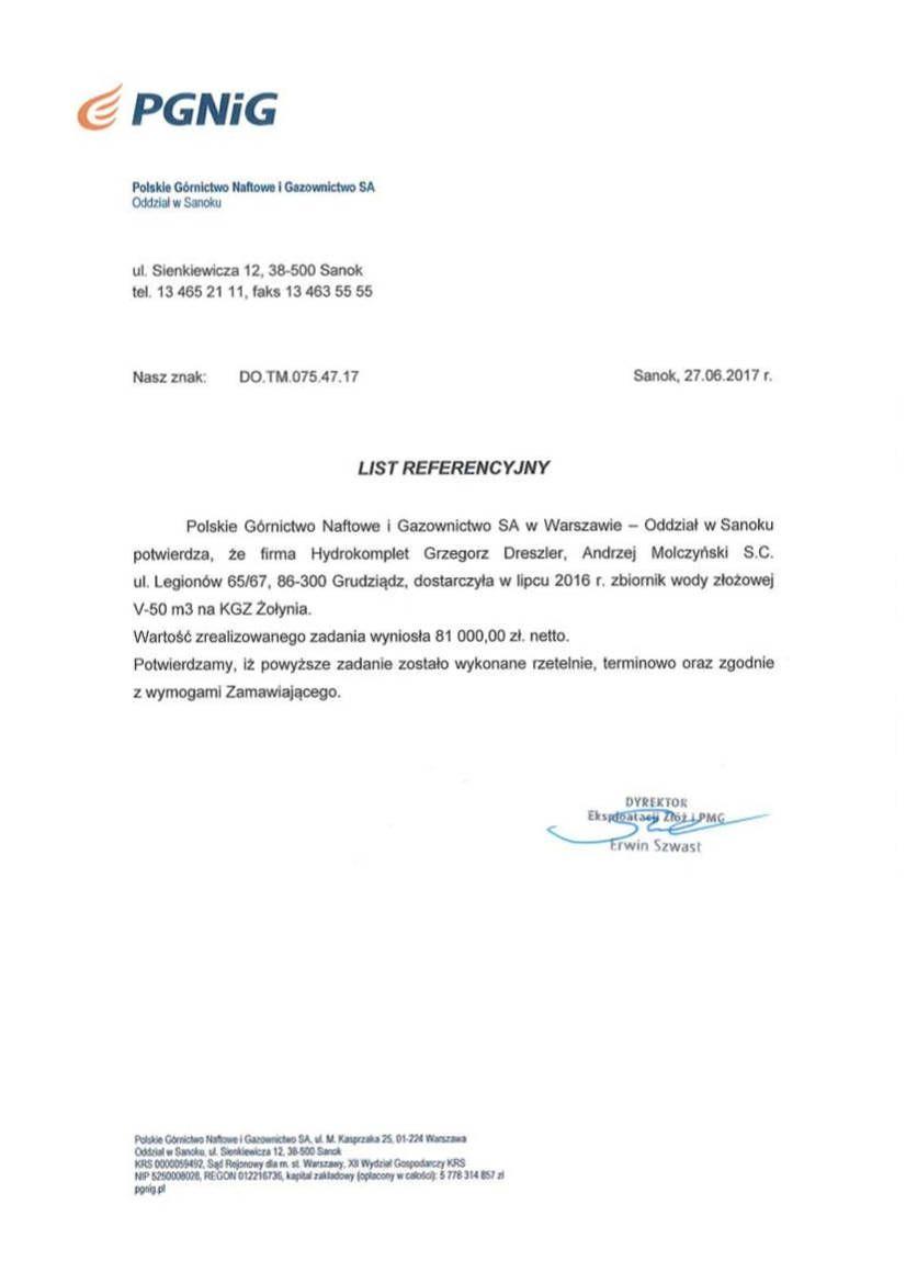 Referencje PGNIG
